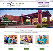 Website home page for CHC Surgical Center
