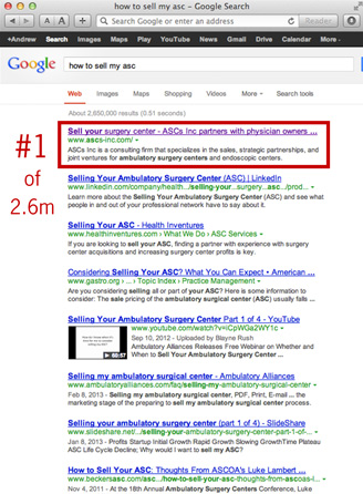 Medical practice Search engine optimization