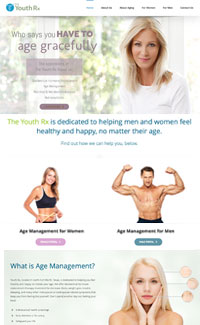 Sample website for an anti aging hormone replacement website