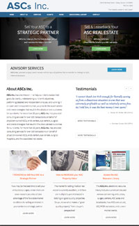 Sample website for an ASC consulting company