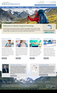 Sample website for a surgical oncology physician practice